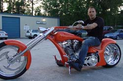 Chopper City USA's custom motorcycle for Francis